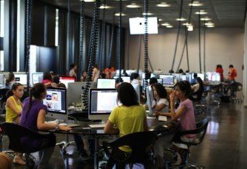 Armenia -- Students at the Tumo Center for Creative Technologies, Yerevan, 14Aug2012