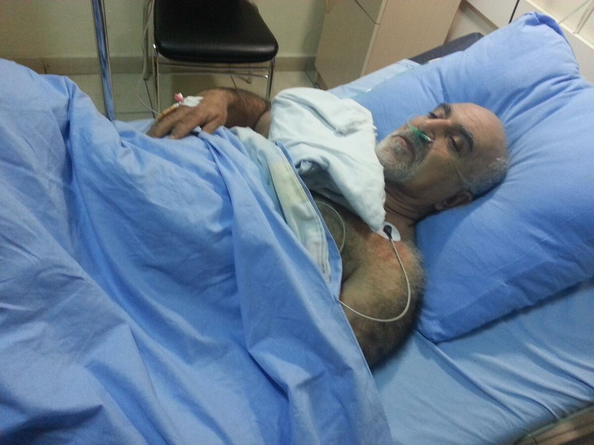 Hayrikian's Facebook page posted photos of the presidential candidate in the hospital after being shot at. | Photo from Hayrikian's Facebook page