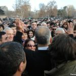 Armenia -- Opposition presidential candidate Raffi Hovhannisian rallies supporters in a massive post-election rally, Yerevan, 20Feb2013