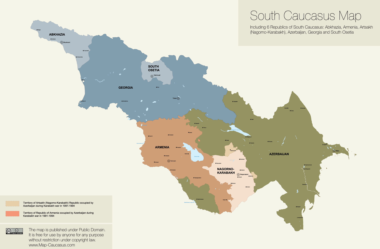 caucasus-vector-map