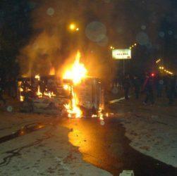 Armenia -- Violence in Yerevan, March 1, 2008