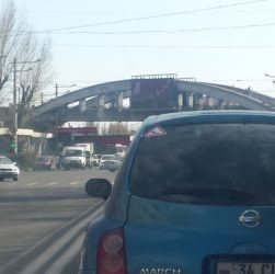 """Armenia — A car with the """"Warning! Female Driver"""" sign attached, Yerevan, 21Mar2016"""