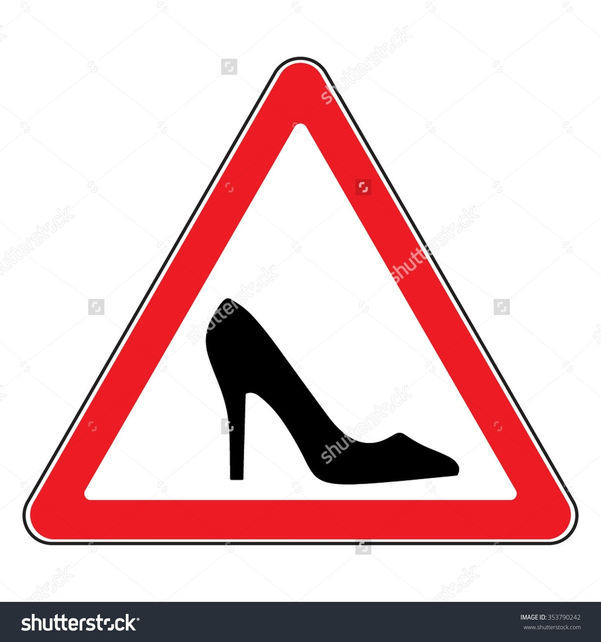 stock-vector-high-heel-shoes-road-sign-elegant-black-silhouette-information-icon-female-driver-symbol-353790242