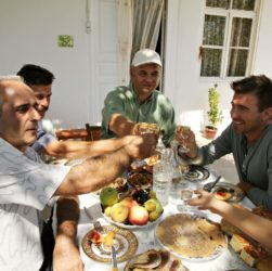 """Jack Maxwell in his humorous documentary series """"Booze Traveler"""" for the Travelchannel explores Armenian culture of alcoholic beverages"""