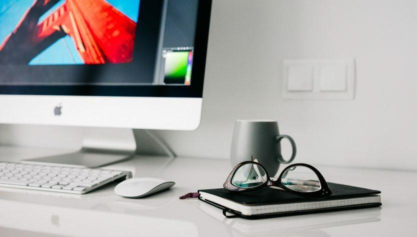 Computer desk cup glasses