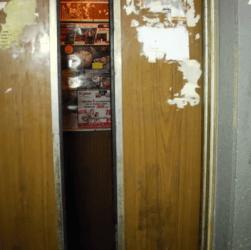 old elevator door in yerevan