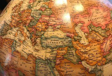 Globe World Europe Middle East Asia